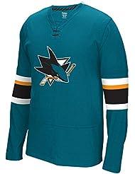 "San Jose Sharks Reebok NHL ""Face Off"" Long Sleeve Jersey Shirt"