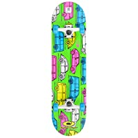 Osprey VW Complete Beginners Double Trick Kick Skateboard, Volkswagen Design, 31 x 8 Inches Maple Deck