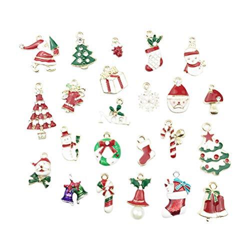 Healifty - 23 Colgantes de Navidad para Manualidades, Collar, joyería, decoración de...