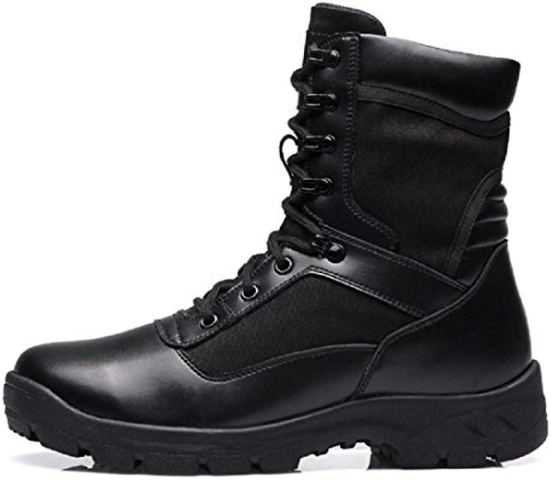 Herren Winter Lederschuhe Draussen Plus Kaschmir Schneestiefel Warm halten Hohe Stiefel Gemuumltlich Schutz Fuß Schuhe