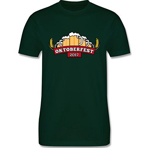 Oktoberfest Herren - Oktoberfest 2017 Krüge - Herren Premium T-Shirt Dunkelgrün