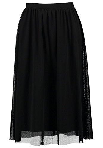 PIECES - Jupe - Plissée - Femme Black (Black)