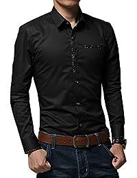 Gladiolus Regular Fit Langarm Herrenhemd Mode Businesshemd Freizeit Hemd  M L XL XXL 6369f9a70a