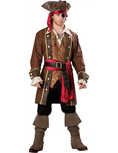 Piraten Kapitäns Kostüm für Herren - (Kostüme Deluxe Piraten Kapitän)