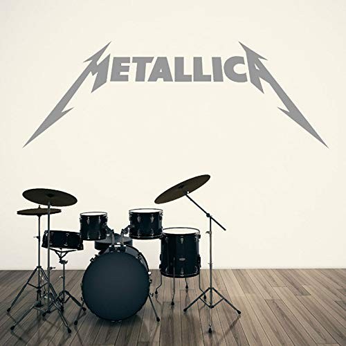 yiyiyaya Rock Band icon Vinyl wandaufkleber raumkunst Aufkleber Musik Applique Heavy Metal Rock Band Dekoration wandtattoo120 * 42 cm