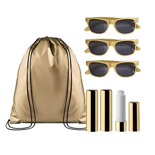 noTrash2003 Hochzeit-Gastgeschenk für Hangover-Kit oder Goody-Bag - Gastgeschenk-Ideen für Hen-Party zum JGA mit Geschenken für Shower Party, Farbe: Gold