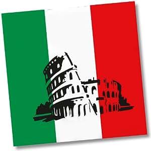 20 Papierservietten im * ITALIEN * für Party und Geburtstag von DH-Konzept // Servietten Napkins Feier Fete Set Italienische Nacht Mottoparty rot weiss grün