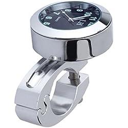"""WINOMO Horloge Numérique de Montage de Guidon de Moto étanche 7/8""""(Argent)"""
