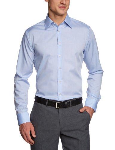 Seidensticker Herren Business Hemd Tailored Langarm Kent-Kragen Bügelfrei, Small (Herstellergröße: 38), Grau (Anthra 32)