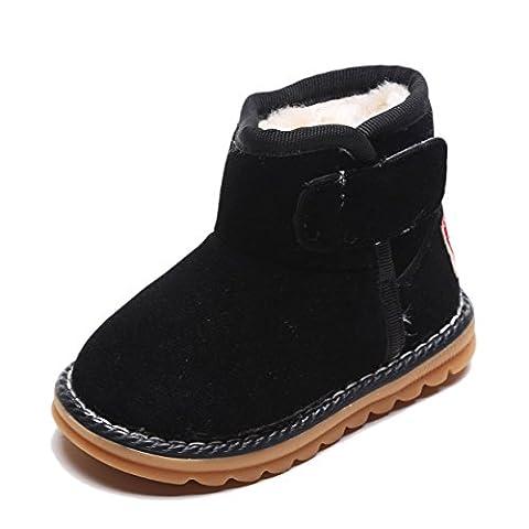 Lalang Filles Bottes de Neige Hiver Chaudes Bottes Boots Fourrées Cheville Chaussures, Taille 22-26 (25,