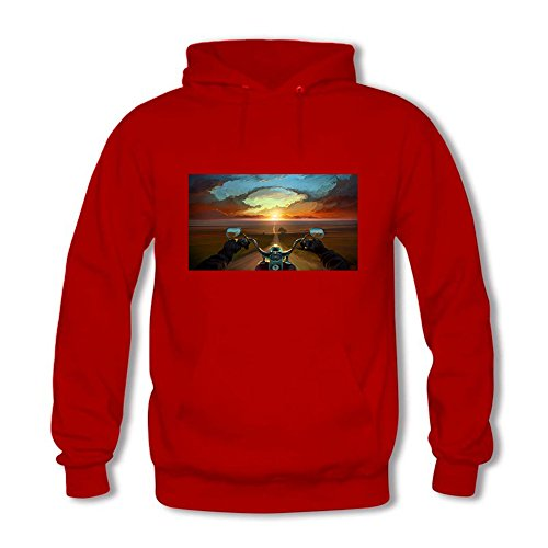 Women's Pullover Nature Landscape Print Fashion Hooded Sweatshirt C