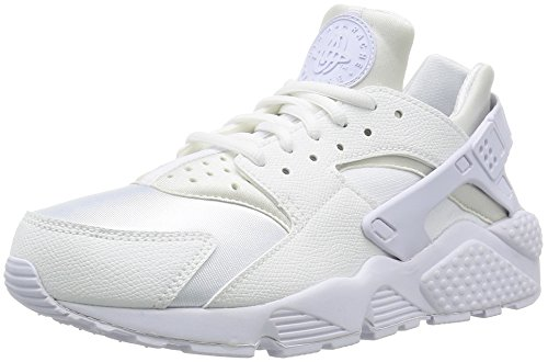 Nike Damen Air Huarache Run Sneaker, Weiß (White/White), 39 EU (Basketball-tennis-schuhe Frauen)