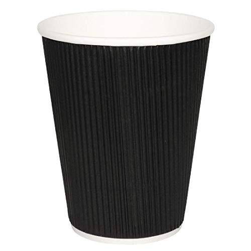 500x negro martillo de desechables de pared fiesta taza caliente Ripple Take Away viaje