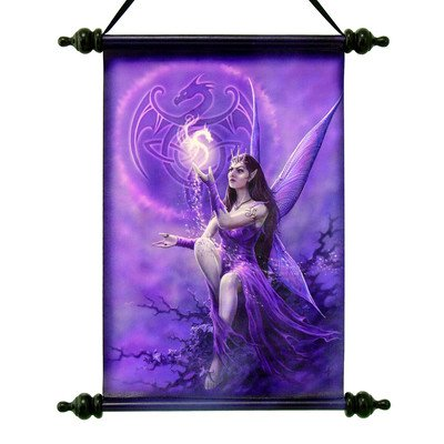 Design Toscano CL75131 Celtic Dragon Fairy Canvas Wall Scroll Tapestry by Artist Anne Stokes produced by Design Toscano - quick delivery from UK.