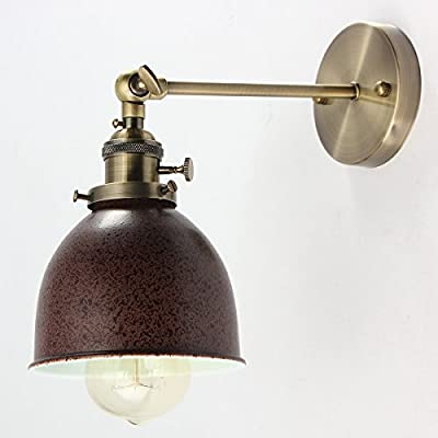 KING DO WAY E27 Retro Vintage Antique Industrial Bowl Sconce Loft Wall Light Wall Lamp Lampshade Holder produced by KING DO WAY - quick delivery from UK.