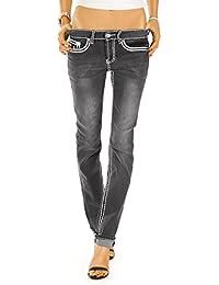 Bestyledberlin Damen Jeans Hosen Regular Fit Hüftjeans Gerades Bein Dicke Nähte j26f