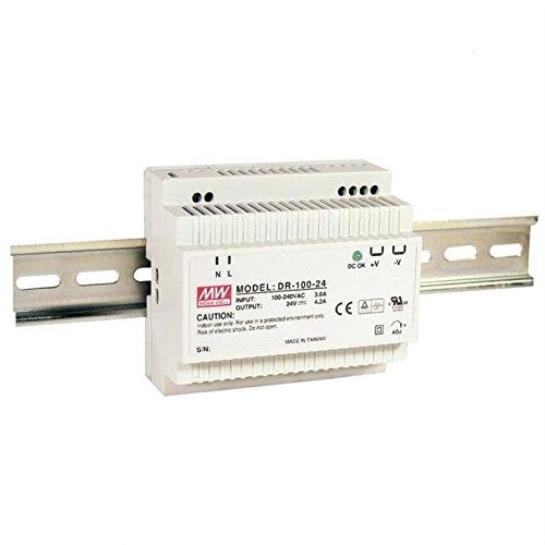 Hutschienen Netzteil 100W 24V 4,2A ; MeanWell, DR-100-24 ; Hutschienennetzteil