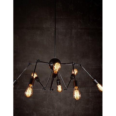 Creative ZSQ 8-Light nichel spazzolato lampadario , 220-240v #3276