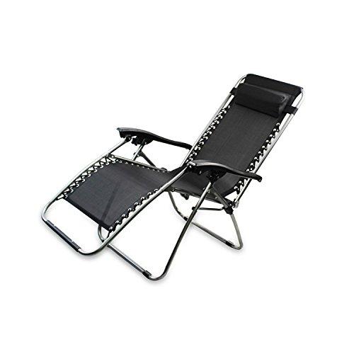 Chaise longue de jardin inclinable transat m tal et toile for Chaise longue jardin metal