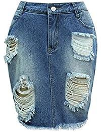 Suchergebnis auf Amazon.de für  Löcher Jeans - Röcke   Damen  Bekleidung f855afa04e