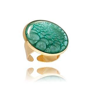 Hellblauer Großer Statement-Ring Verstellbares Trendiges Geschenk-Accessoire