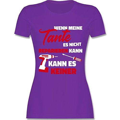 Schwester & Tante - Wenn Meine Tante ES Nicht Reparieren Kann - Damen T-Shirt Rundhals Lila