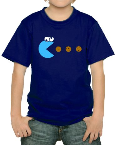 cookie-pacman-kinder-t-shirt-navy-134-146