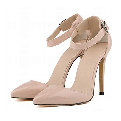 EARIAL& 2018 Summer Fashion Sandals Shoes for Woman Stilettos Ankle Strap Pointed Toe High Heels 11cm Sexy Party Sandals Shoes A021 13 9.5 - Lola Ankle Strap Sandalen