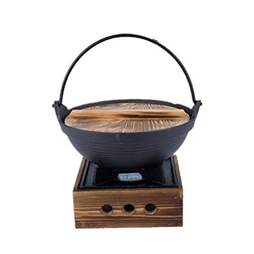 Verdicktes Japanisches Sukiyaki Set, kleiner Topf aus Gusseisen Topf, japanischer Topf, Schmortopf, Hot Pot, mit Herd, gusseisen, Large - Hot Pot