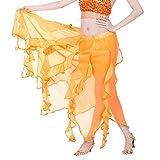 Elegante Donna Gonna Lunga,Skirt da Donna,YanHoo Gonna da Donna con Gonna in Paillettes e Gonna a Pieghe in Paillettes per Abito Vestiti da Donna Arancione Taglia Unica