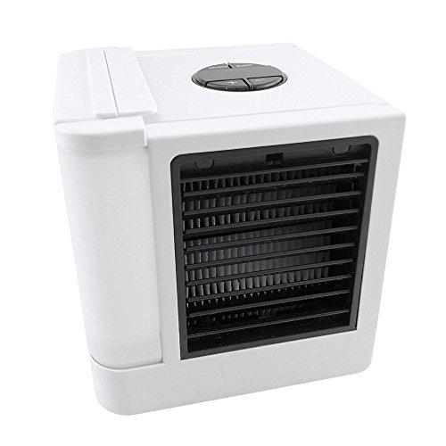 Mobiles Klimageräte LoiStu Air Cooler mit Wasserkühlung Zimmer Raumentfeuchter Mini Klimaanlage ohne Abluftschlauch für Büro, Hotel, Garage, 3 Kühlstufen - 7 Stimmungslichter (Einer In Farbe Alle)