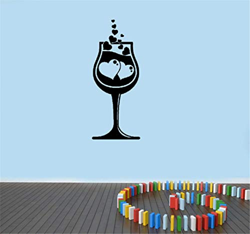 Wandaufkleber Kinderzimmer Weinglas Liebe Romantik Alkohol