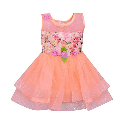 Wish Karo Party wear Baby Girls Frock Dress DNbxa06 (0-3 Months)