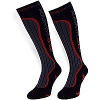 VeloChampion Calze a Compressione - Nero - Compression Sports Socks - (Black Large)