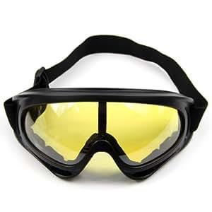 Estone Motorcycle Ski Snowboard Dustproof Sunglasses Eye Glasses Lens Frame Goggles New (Yellow)