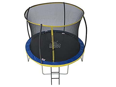 10ft Zero Gravity Ultima 4 High Spec Trampoline with Safety Enclosure Netting and Ladder