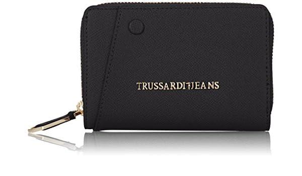 186b153a7b Trussardi Jeans Montblanc Medium Zip Portamonete, 14 cm, Nero: Amazon.it:  Valigeria