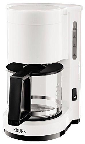 Aroma-kaffeemaschine (Krups F1830110Kaffeemaschine Aroma 6Tassen weiß/schwarz 24,6x19,40x27,8cm)