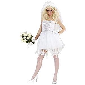 WIDMANN 87242 - Disfraz de novia zombie para mujer (talla M)