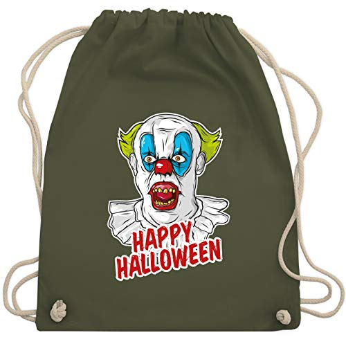 Halloween - Happy Halloween - Clown - Unisize - Olivgrün - WM110 - Turnbeutel & Gym Bag