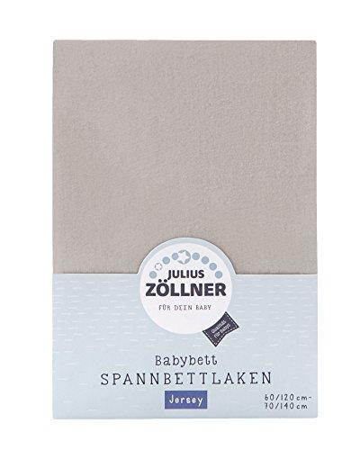 Julius Zöllner 8320147760 - Spannbetttuch Jersey für das Kinderbett, Größe: 60x120 / 70x140 cm, Farbe: taupe (Jersey Absolute)