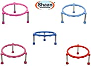 shaan Glister Single Ring Matka/Pot Stands with Stainless Steel Legs - 5 Pieces