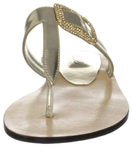 Unze Evening Slippers, Sandali donna Oro (Gold (L18265W))