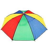 Aofocy Sombrero del Paraguas Sombrero de la Novedad en el Aire Libre Lluvia del Sol Sombrero del Paraguas Sombrero Sombrero Sombrero de Cabeza Sombrero para Damas y Hombres