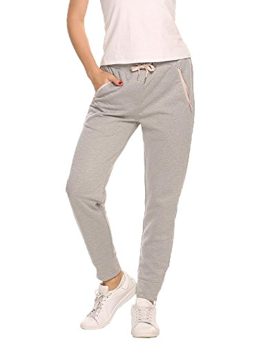 Ekouaer Women's Running Trousers Casual Joggers Bottoms Gym Exercises Sport Outdoor Pants