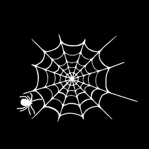 er 13,8 * 10 CM Interessante Halloween Spinnennetz Decor Vinyl Auto Aufkleber Zubehör Silhouette 2 Stück ()