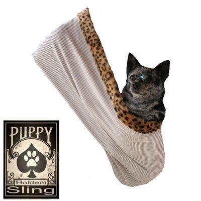 Pet Halle 500-069tclgxl Fliegender Drache Strass Puppy Holdem Sling Tan mit Cheetah Trim, groß/X-Large Strass Cheetah