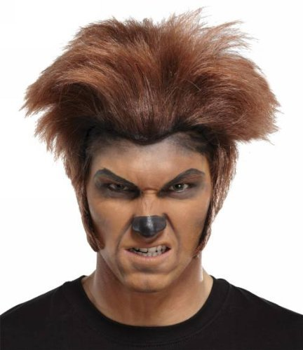 Maske Wolfman (Wolfman Wig Dk Brown Brown)