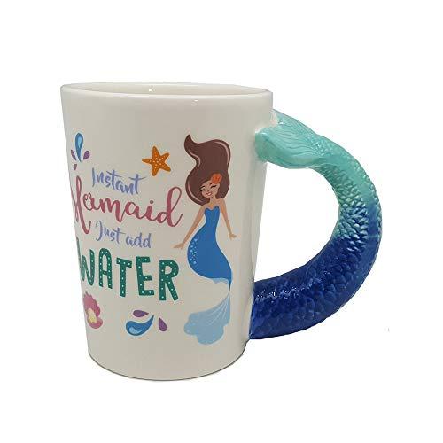 ANRIYA Fisch Griff Tasse 3D personalisierte Keramik Kaffeetassen Wasser Milch Trinken Travel Cup für Männer Frauen Kinder Junge Mädchen