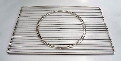 Edelstahl Grillrost 60 x 40 cm Expert + Ø 29 cm herausnehmbaren runden Grillrost nur 12 mm Stababstand, Stäbe Ø 4mm !!!, stabil